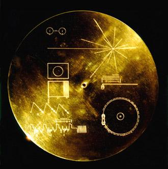 Plaketa ze sondy Voyager